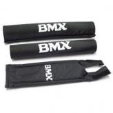 Zestaw gąbek ochronnych na kierownice bmx merkloos czarne
