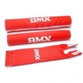 Zestaw gąbek ochronnych na kierownice bmx merkloos czerwone