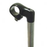 Mostek kierownicy kalloy 21.1 mm  chromowano-czarny