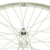 Koło rowerowe przednie 28'' x 1 3/8 srebrne