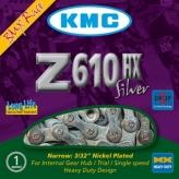 Łańcuch rowerowy kmc z610 hx silver