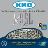 Łańcuch rowerowy kmc x9 Stronglight silver super light