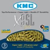 Łańcuch rowerowy kmc x9 sl-ti-n gold super light