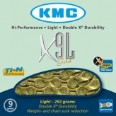 Łańcuch rowerowy kmc x9l gold