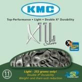 Łańcuch rowerowy kmc x11 sl-silver super light