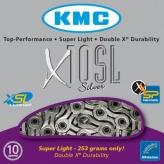 Łańcuch rowerowy kmc x10 sl-silver super light