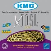 Łańcuch rowerowy kmc x10 sl-ti-n gold super light