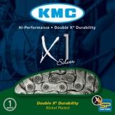 Łańcuch rowerowy KMC X1 Silver - Rohloff