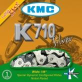 Łańcuch rowerowy BMX KMC K710 Silver
