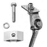 "Nóżka rowerowa esge pletscher 28"" 295mm srebrna + płytka montażowa"