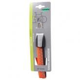 Gumy na bagażnik rowerowy dziecięcy Widek retro 3 taśmy szare - pomarańczowe neon