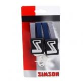 Gumy na bagażnik rowerowy Simson 4 taśmy niebieskie - szare