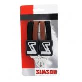 Gumy na bagażnik rowerowy Simson 4 taśmy czarne - brązowe