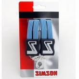 Gumy na bagażnik rowerowy Simson 3 taśmy błękitne