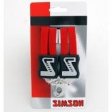 Gumy na bagażnik rowerowy Simson 3 taśmy czerwone