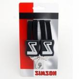 Gumy na bagażnik dziecięcy Simson 3 taśmy czarne
