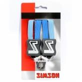 Gumy na bagażnik dziecięcy Simson 3 taśmy kobaltowo-błękitne