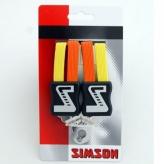 Gumy na bagażnik dziecięcy Simson 3 taśmy pomarańczowo-żółty
