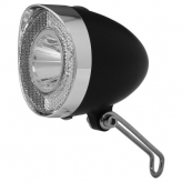 Union lampka przednia retro led bateria czarny krt