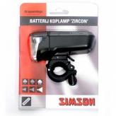 Simson lampka przednia zircon bateria
