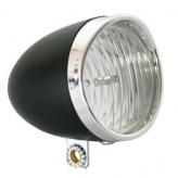 Przednia lampka rowerowa ikzi retro czarna