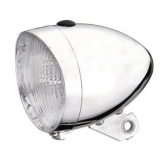 Union lampka przód retro bateria chrom / bez