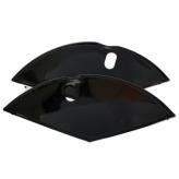 Osłonki koła materiałowe czarne połysk