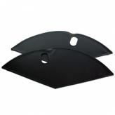 Osłonki koła materiałowe czarny mat
