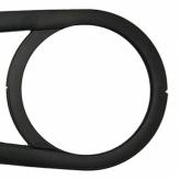 Osłona łańcucha przód Hebie Chainglider 44z czarna