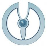Osłona łańcucha przy korbie 42/44 zęby hebie niebieska