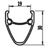 Cortina obręcz J19DC matt antracite grey